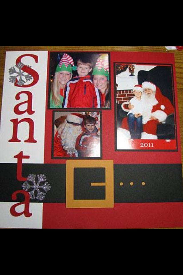 Santa Layout, really a simple layout.  Love it.