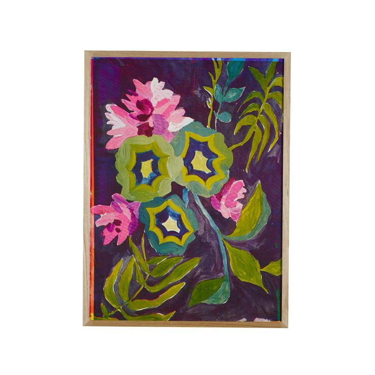 Paper print with hand printed botanical design in geranium (PP21).  Can be purchased framed (with glass) or unframed (rolled).  Dimensions:790mm x 590mm  NOTE: this product has a 4-6 week lead time for production. Paper printscan be collected from our studio in Melbourne or we can arrange delivery (shipping cost not included and can be quoted separately).