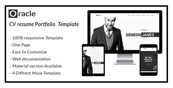 oracle CV Resume Personal  Template . oracle is Personal Muse Template options for web developer or designer who needs a web template to promote and introduce their business company or clients. oracle is designed for Freelancer, agency, or personal