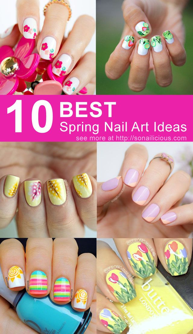 10 Best Spring Nail Designs To Try Now: http://sonailicious.com/10-spring-nail-designs-try-now/