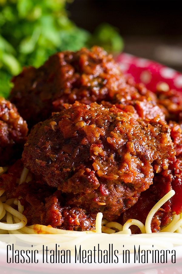 Homemade Meatballs In Marinara Sauce Recipe Recipes Vegetarian Recipes Healthy Beef Recipes