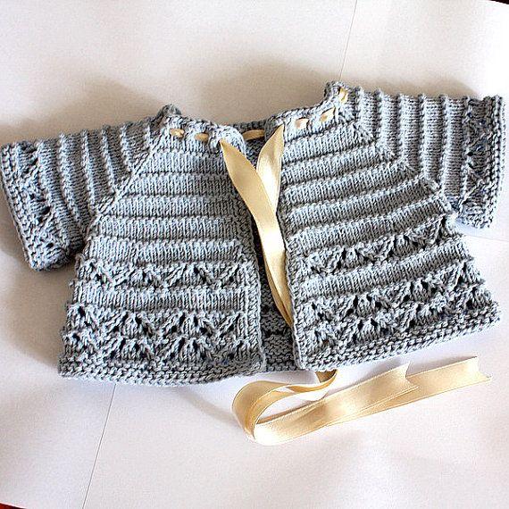 Knitting Pattern pdf file Baby Cardigan/Shrug by loasidellamaglia, $3.99