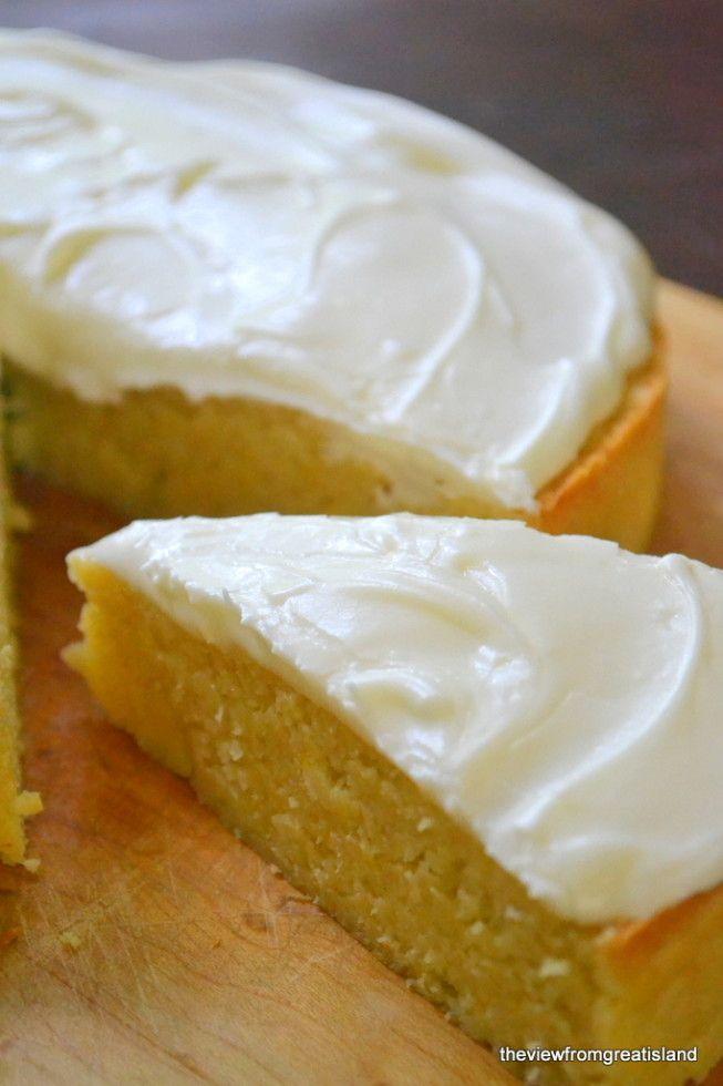 A dense lemon cake that's naturally gluten-free!