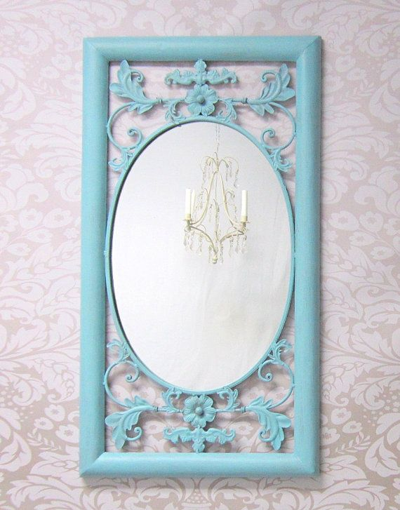 baby girl nursery decor shabby chic mirror for sale teal. Black Bedroom Furniture Sets. Home Design Ideas