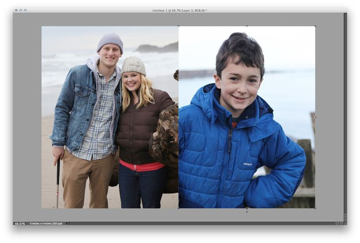 printing two 3x4 photos on a 4x6 setting the aspect