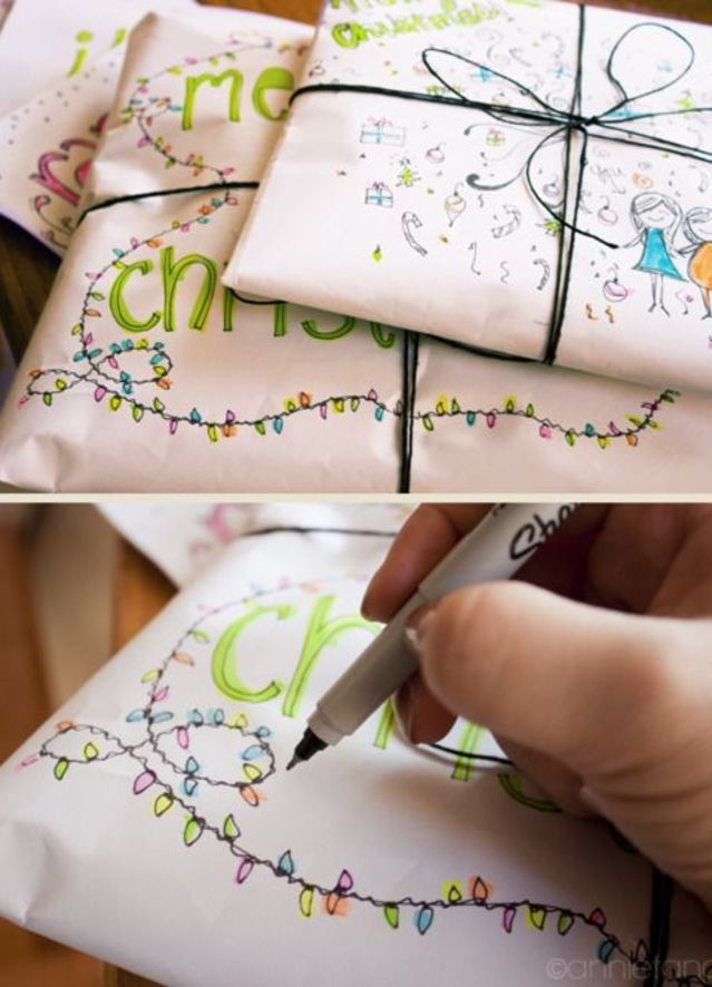Your doodles can become a unique addition to this year's presents.