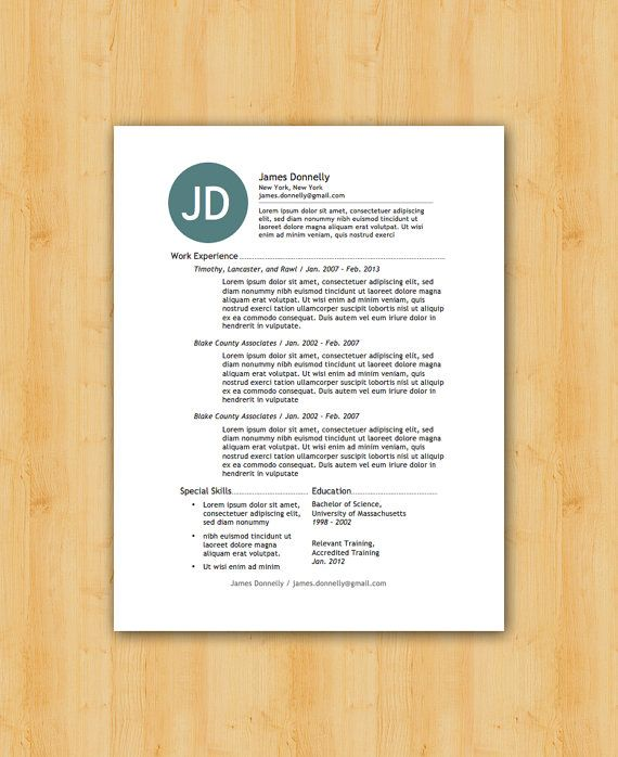 42 best Our Resume Templates images on Pinterest Resume - artist resume template