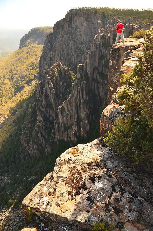 Devils Gullet Lookout, Great Western Tiers (60kms from Deloraine) #Tasmania. Photo by Dan Fellow for www.think-tasmania.com