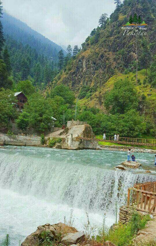 Kattan Waterfall,  Azad Kashmir,  Pakistan.