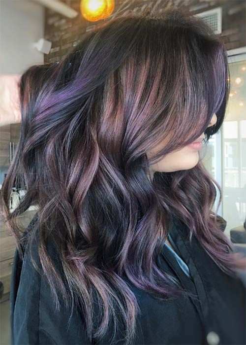 Chocolate Mauve Hair Color Ideas                                                                                                                                                                                 More