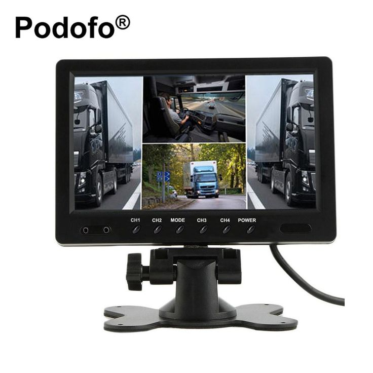 9 Inch TFT LCD Car Monitor 4 Split Screen Headrest Rearview Monitor with RCA Connectors 6 Mode Display and Remote Control