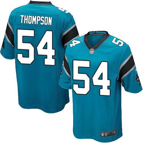 Nike Game Shaq Thompson Blue Youth Jersey - Carolina Panthers #54 NFL Alternate
