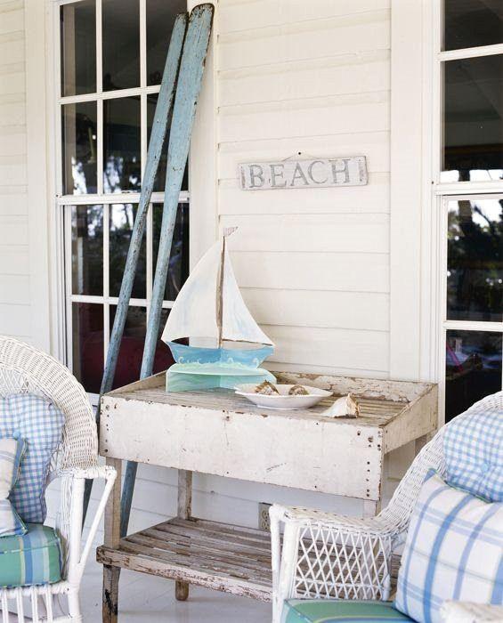 Beach House Porch Decorating Ideas | Shabby Chic Beach Decor Ideas For Your  Beach Cottage