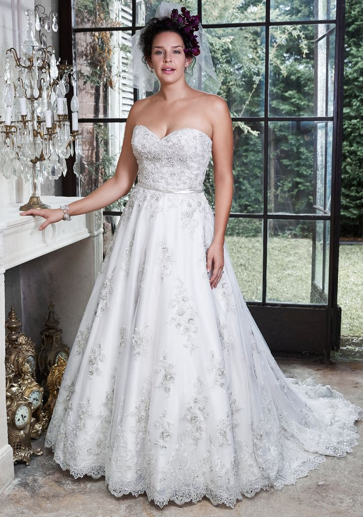 Amazing Hannah plus size wedding dress by Maggie Sottero Fall in love all over again in