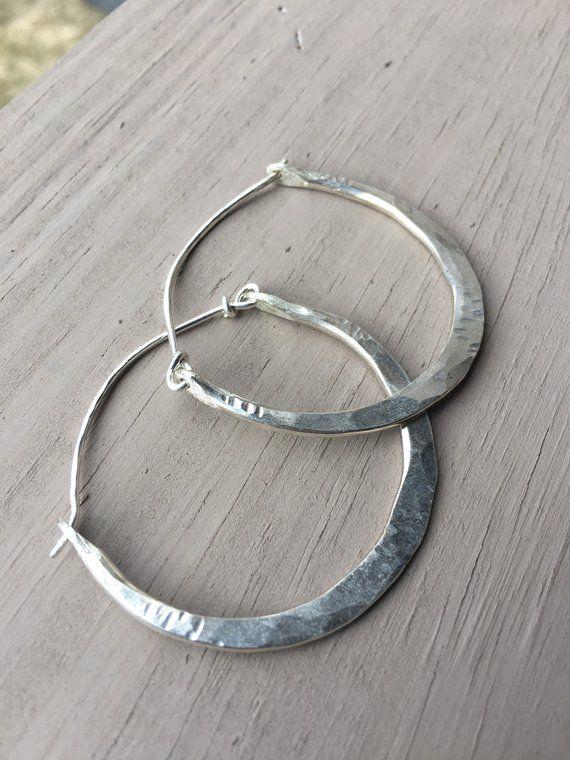 Sterling Silver Hoop Earrings Silver Hoops Sterling Earrings