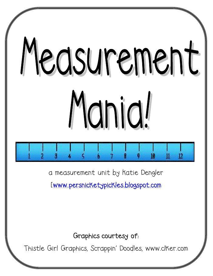 21 Best Nonstandard Measurement Images On Pinterest