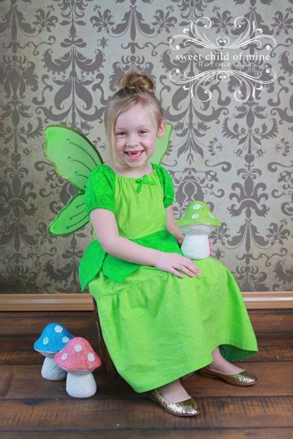 Tinkerbell Dress, Disney Inspired Dress, Princess Dress Up, Girls Costume, Halloween Costume