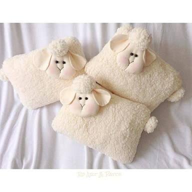 Resultado de imagen para almofada ovelha tecido