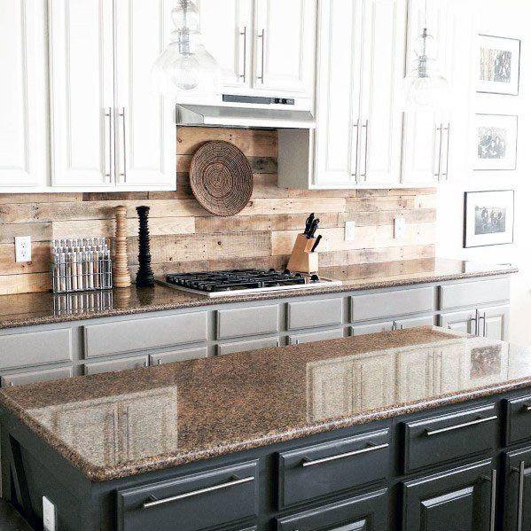 Top 60 Best Wood Backsplash Ideas Wooden Kitchen Wall Designs Country Kitchen Backsplash Kitchen Wall Design Wood Kitchen Backsplash