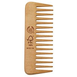 Seamless Wide-Toothed Wooden Comb ~it's important to be gentle with your hair. Especially when it is wet. Most plastic combs from a drugstore have a seam along the middle that can catch and break hairs (yikes!)