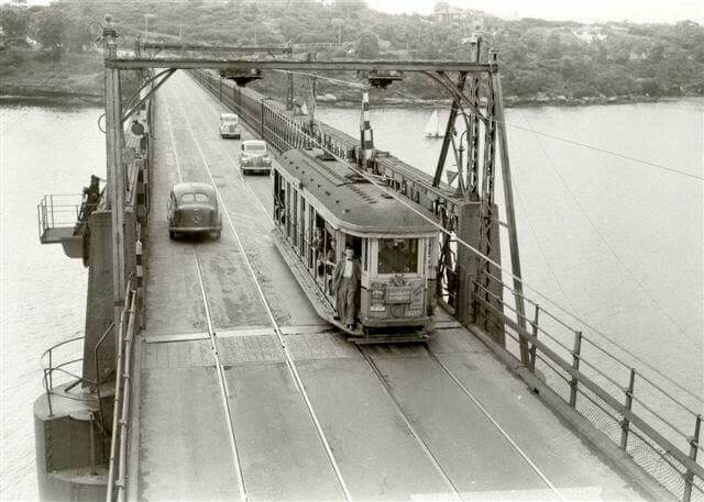 The old Gladesville Bridge in the 1950s.