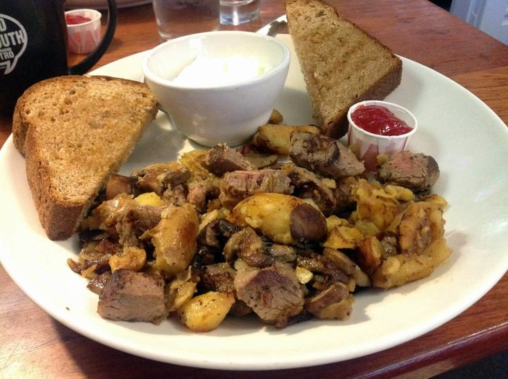 {New} Can you imagine a better brunch than Word of Mouth Bistro's Prime Rib Hash? Check it out! http://wp.me/p27DQf-19E
