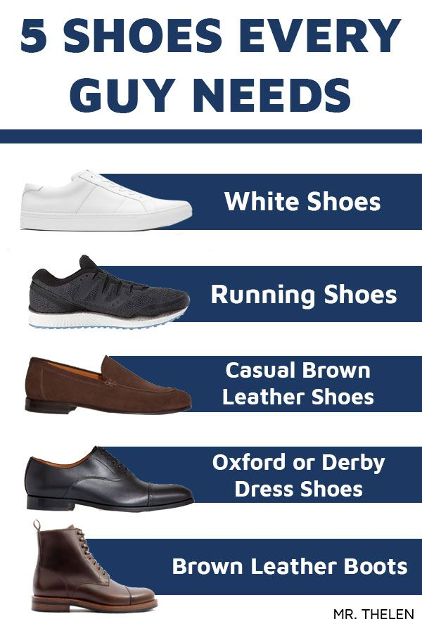 5 Shoes Every Guy Must Own — Mr Thelen
