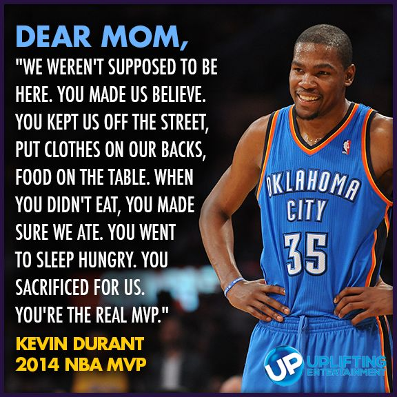 "Part of Kevin's MVP speech, minus the ""Dear Mom"" part. His speech was SO GOOD I cried a lil."