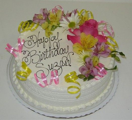 17 Best Ideas About Birthday Cake With Flowers On