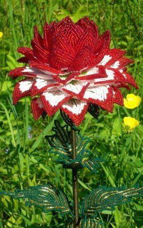 beaded flower tutorial