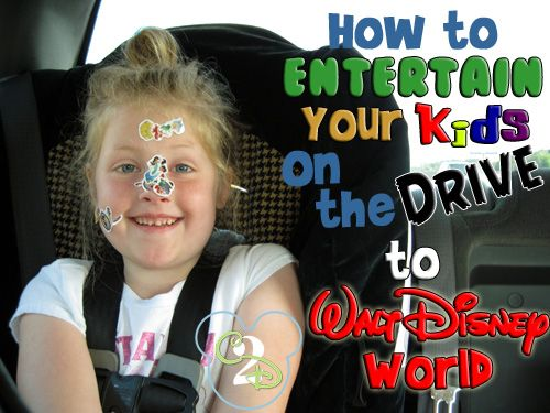 Here are tips on how to entertain your kids on the drive to Walt Disney World from a mom with a 10 hour drive.