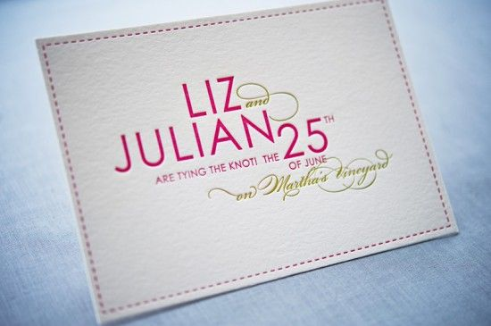 Colorful Modern Wedding Save the Date Gus and Ruby Letterpress8 550x365 Liz + Julians Colorful Destination Wedding Save the Dates
