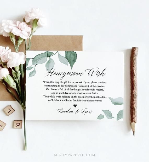 Wishing Well Card Template Honeymoon Wish Honeymoon Fund Honeymoon Request Wish Card Wedding In Honeymoon Wish Wishing Well Wedding Honeymoon Fund