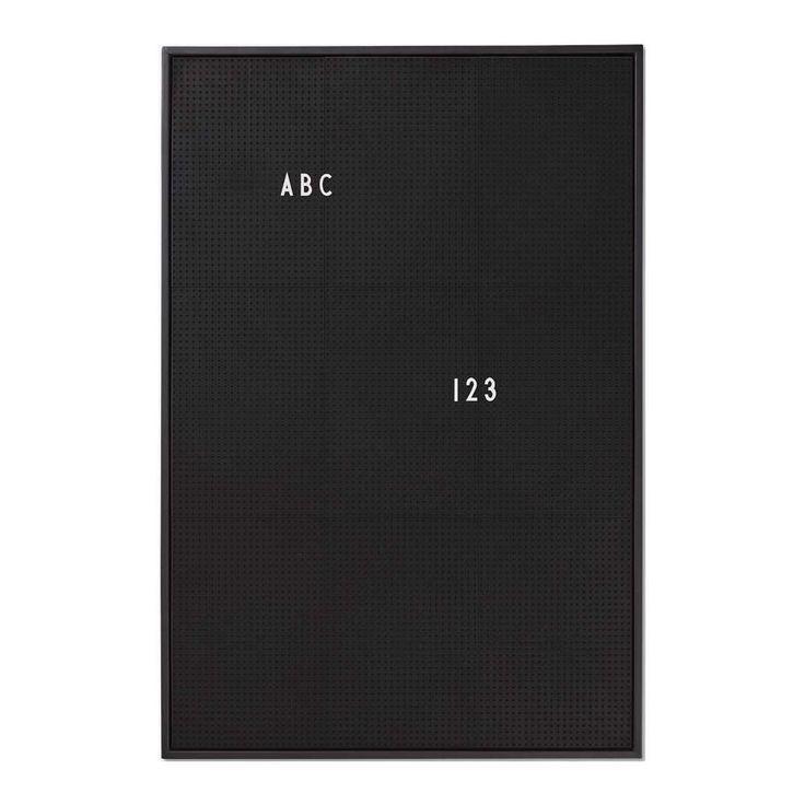 design letters tavle A2 sort