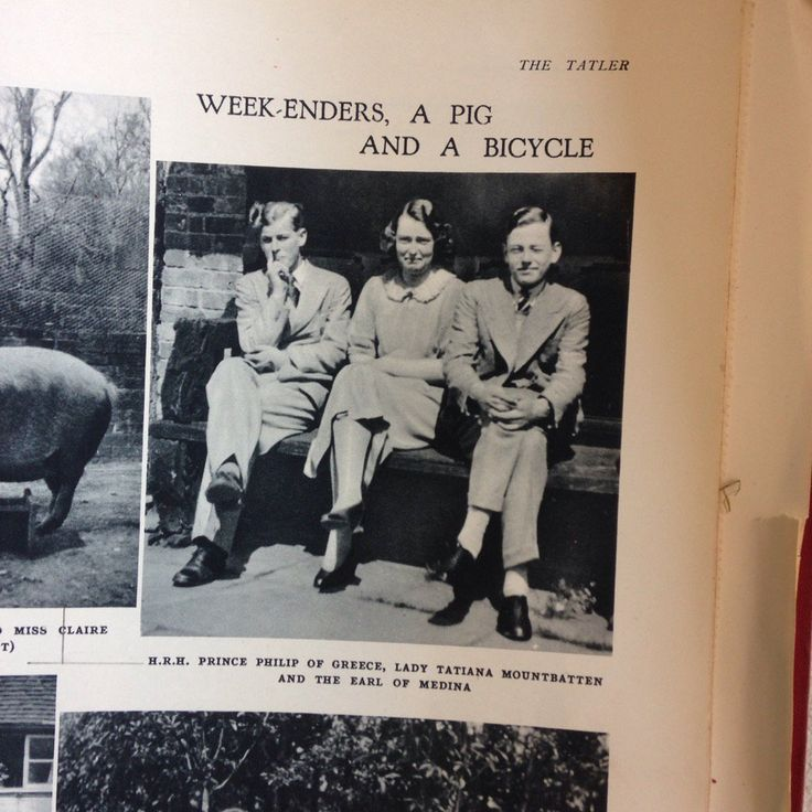 Happy and Glorious (@HappynGlorious) on Twitter: Tatler, June 1936-Prince Andrew of Greence and Denmark (later the Duke of Edinburgh) with his first cousins Lady Tatiana Mountbatten and her brother David Mountbatten, Earl of Medina, and later 4th Marquess of Milford Haven