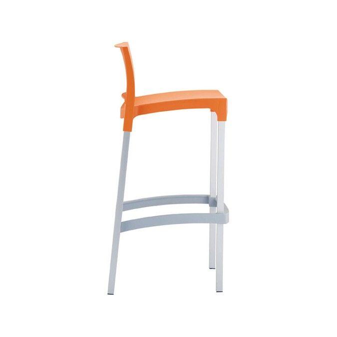WWW.MOBILIFICIOMAIERON.IT  - https://www.facebook.com/pages/Arredamenti-Pub-Pizzerie-Ristoranti-Maieron/263620513820232 - 0433775330 .Sgabelli  cod 9005 color arancione,  impilabili struttura in alluminio anodizzato e struttura in polipropilene espanso color bianco. Diversi colori disponibili Si tratta di sedie nuove, imballate e di ottima qualità made in italy. Sedie adatte ad arredi esterno bar, arredi esterno ristoranti, arredi esterni pub. Disponibilità illimitata. Spedizioni in tutta…