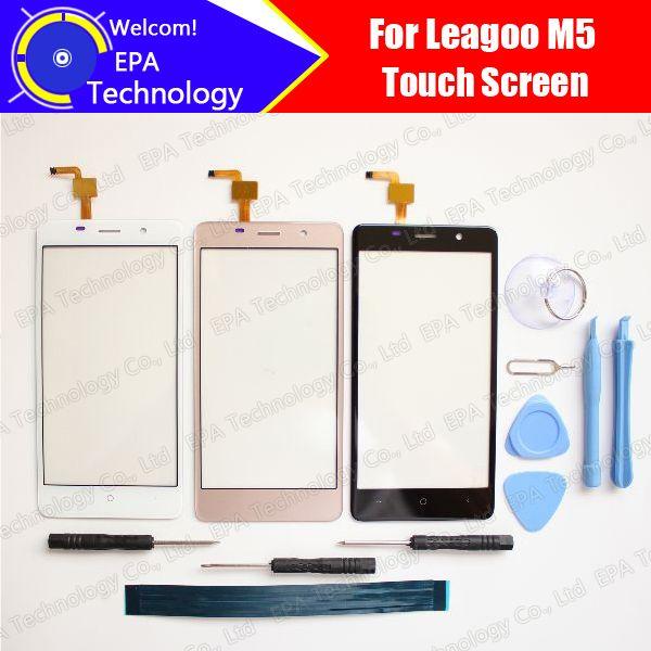 Leagoo M5 Digitizer Touchscreen 100% Garantie Original Glasscheibe Touchscreen Digitizer Für M5 + werkzeuge + Adhesive