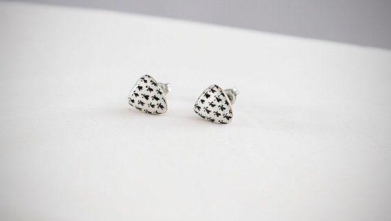 #handmade #heraldic #ermine #earrings #thesilverlance #etsy