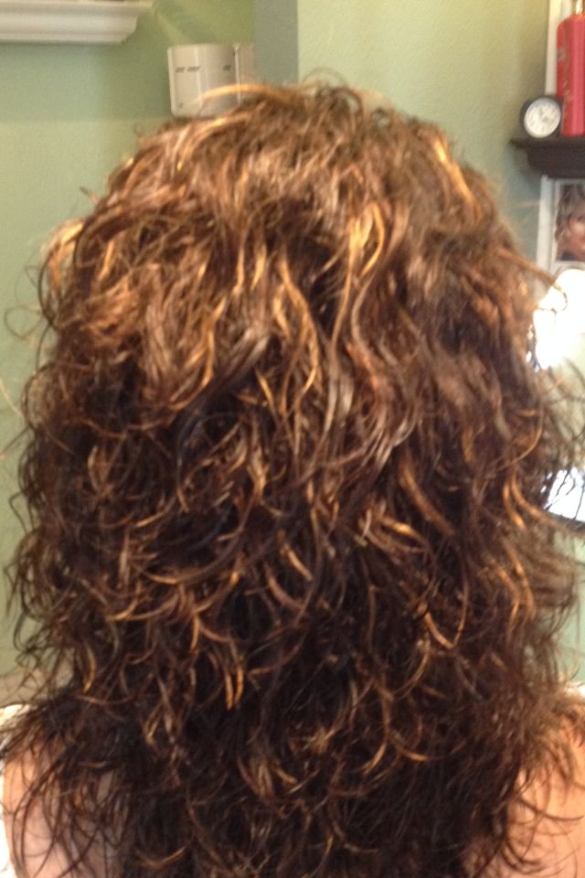 Beach wave perm in shorter layer elegant touch salon for C curl perm salon vim