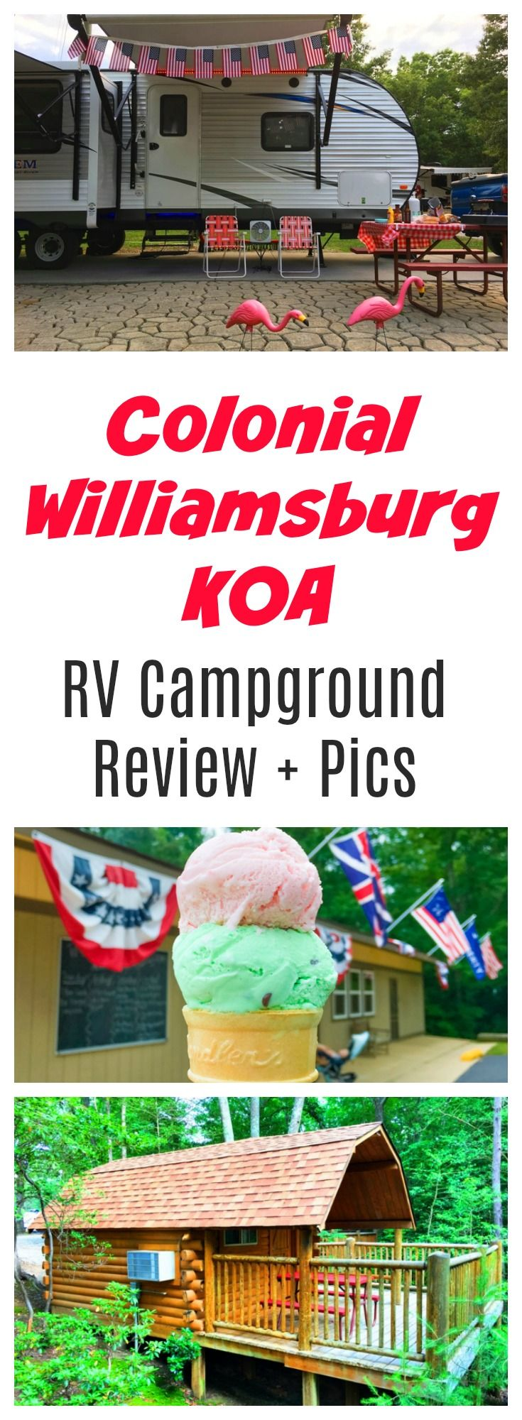 Superb Colonial Williamsburg KOA is the perfect place to stay near Jamestown Busch Gardens or Yorktown