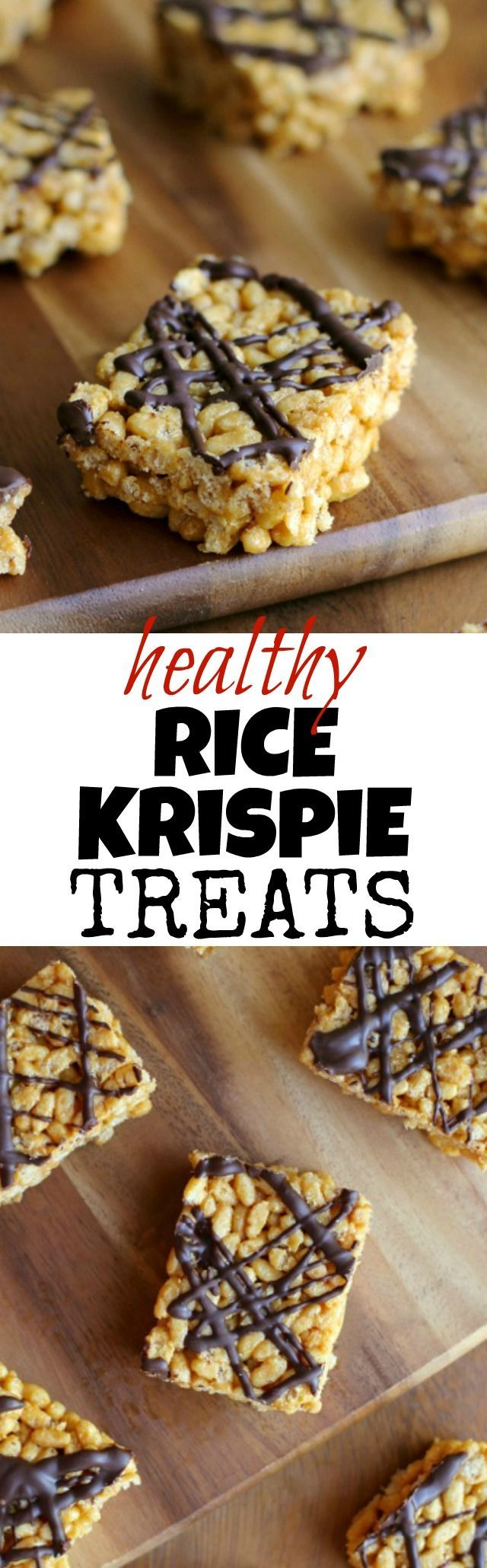 Healthy Rice Krispie Treats - this childhood favourite is made with NO marshmallows or butter, but tastes just as delicious as the original | http://runningwithspoons.com #glutenfree #vegan #snack #recipe