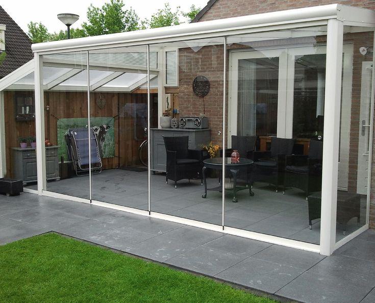 Veranda completa con vetrate scorrevoli in vetro
