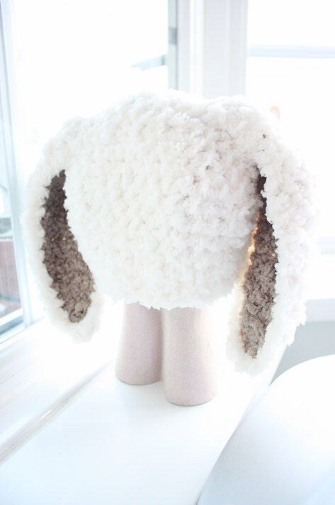 SALE* Cream and brown fluffy soft baby bunny hat, handmade with love by Babamoon  - Size 12 to 24m -  * Can be made in a choice of colours  * Can by made in sizes Preemie to Adult!  * Get 10% off this December!  * Free Worldwide Shipping Available! #etsy #accessories #babybeaniehat #bunnyears #babybunny #bunnyrabbit #easter