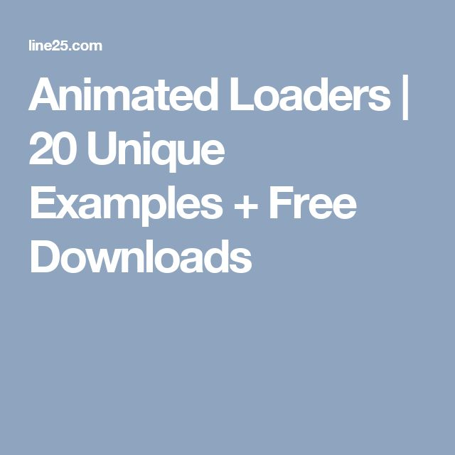 Animated Loaders | 20 Unique Examples + Free Downloads
