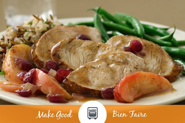 Keep the feast going with our Pan Seared Turkey Medallions with Apple Cranberry Glaze! This recipe has some of the best flavours of Thanksgiving wrapped up in one delicious dish! #makegood #thanksgiving  #fall #autumn