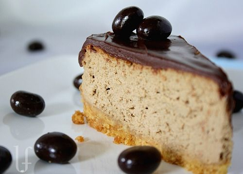 Cappuccino Cheesecake with Dark Chocolate Ganache - I love coffee ...