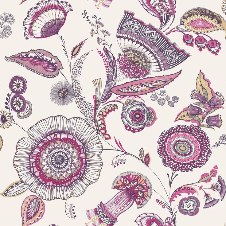 Catarina Plum wallpaper by Arthouse