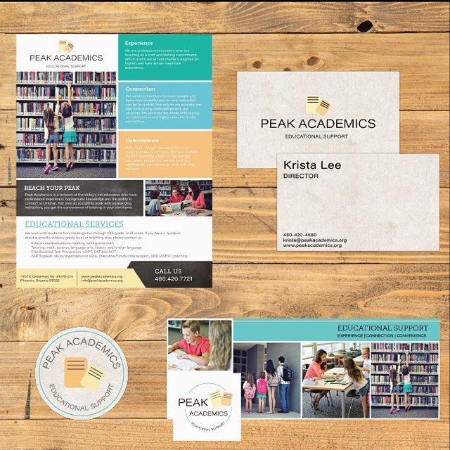 Collateral items are the key to keeping your brand consistent across all platforms. Here are some examples for Peak Academics. {website launch later this week!} #branding #websitedesign #risingtidesociety #communityovercompetition  #collateral #flyer #graphicdesign #freelancedesign #girlboss