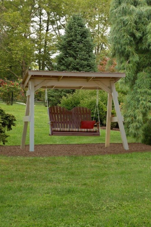 Berlin Gardens Poly Comfo Back Double Swing. Patio SwingWood ...