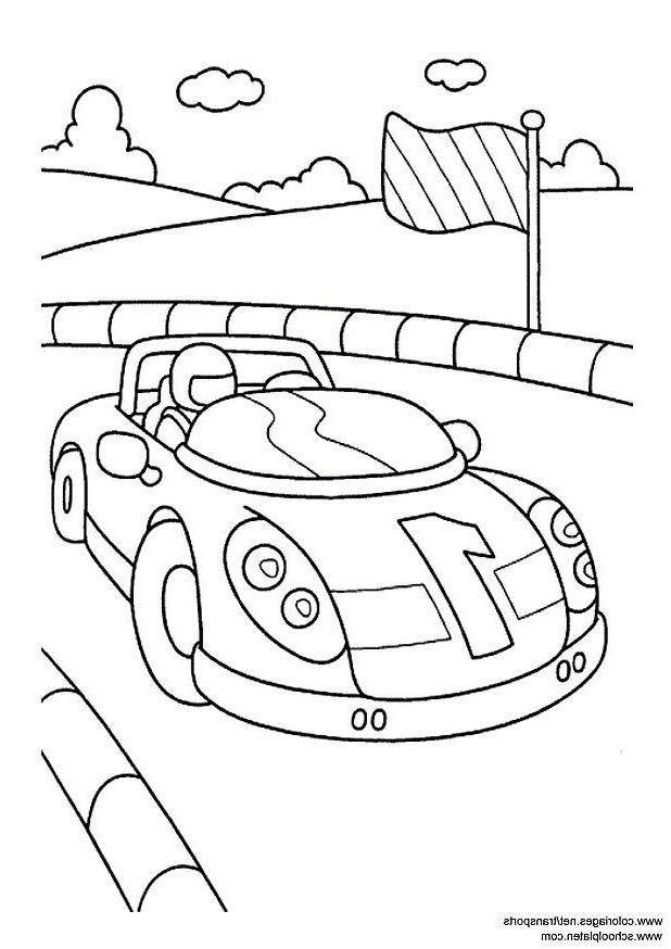 Coloriage Voiture De Sport I3094 In 2020 Race Car Coloring Pages